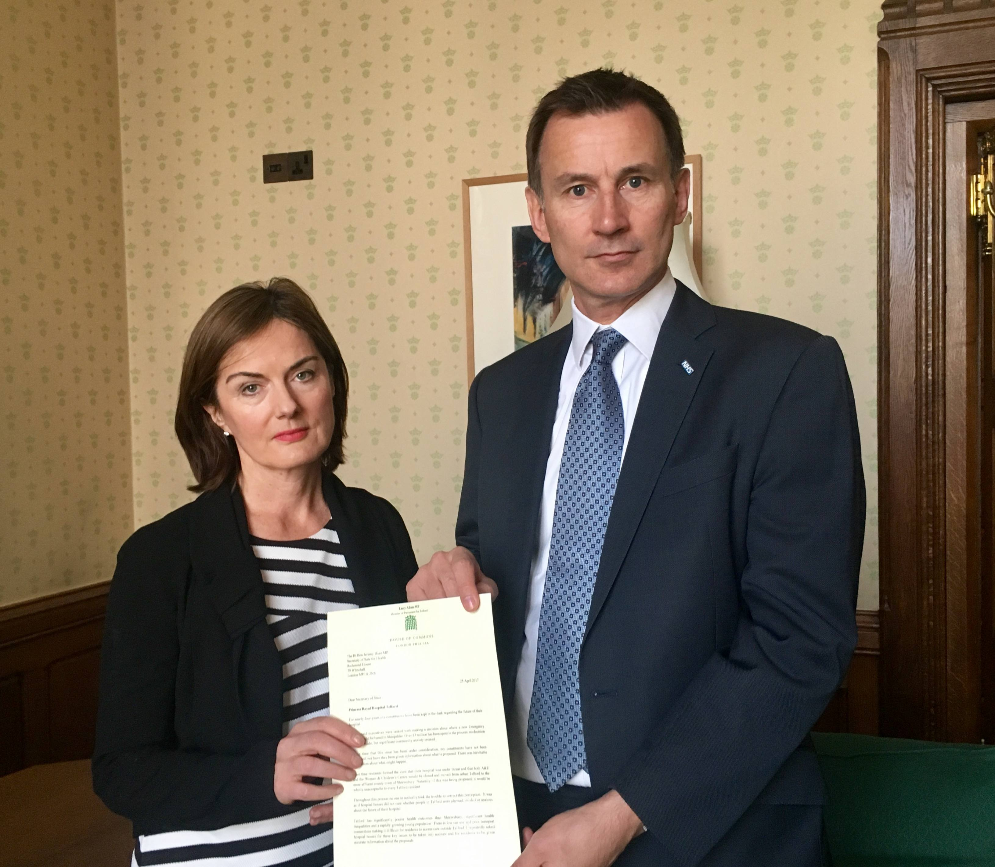 Lucy Allan in talk's with the Health Secretary