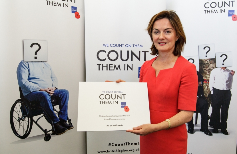 Lucy Allan supporting the British Legion