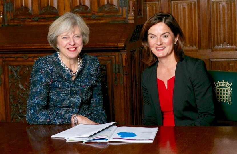 Lucy Allan and Theresa May