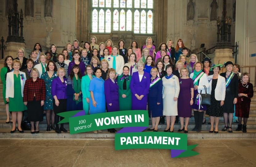 Theresa May with female Conservative MPs