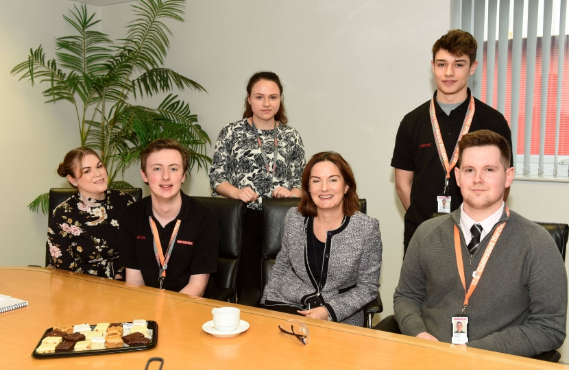 Lucy Allan meeting BAE apprentices