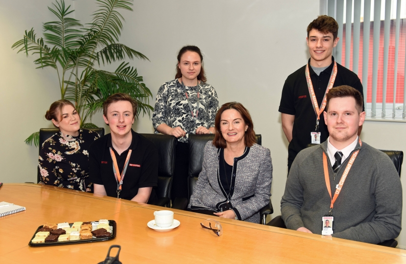 Lucy Allan with BAE Apprentices