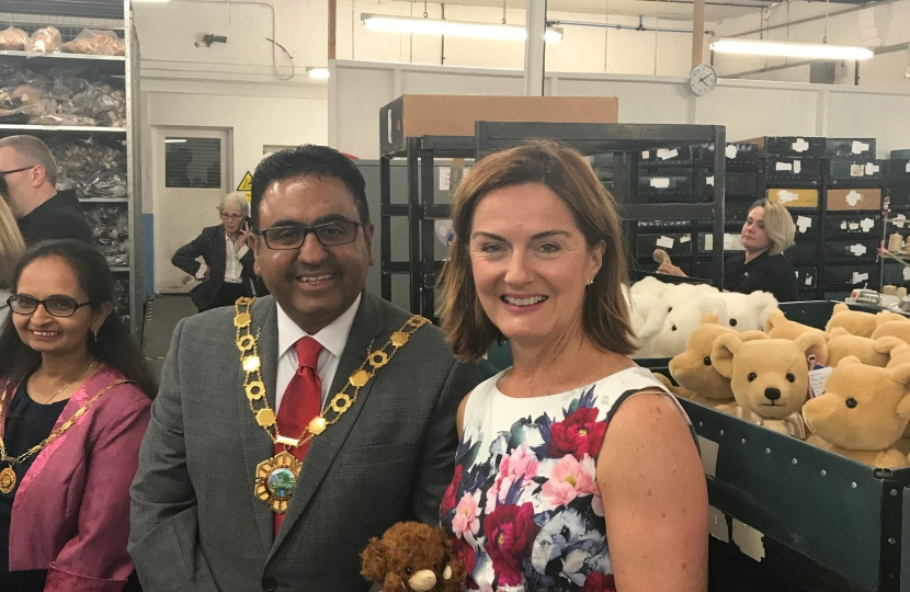 Lucy Allan with Raj Mehta