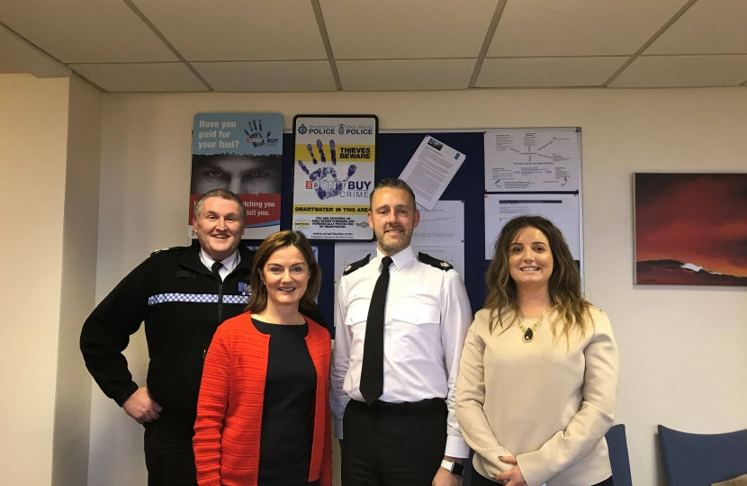 Lucy Allan MP with West Mercia Police