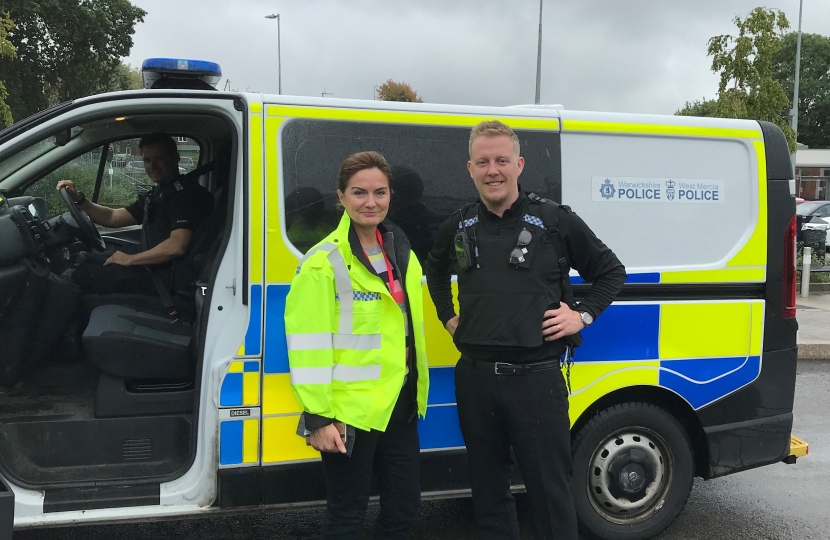 Lucy Allan with West Mercia Police