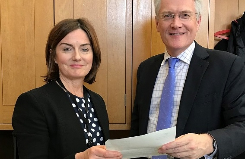 Lucy Allan with Rail Minister Andrew Jones MP
