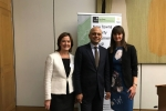 Lucy Allan MP with the Secretary of State, Sajid Javid, and TCPA Chief Exec, Kate Henderson