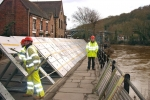 Flood defences in Ironbridge