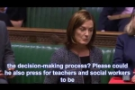 Embedded thumbnail for Lucy raises the effects of school closures on children in care with Education Secretary